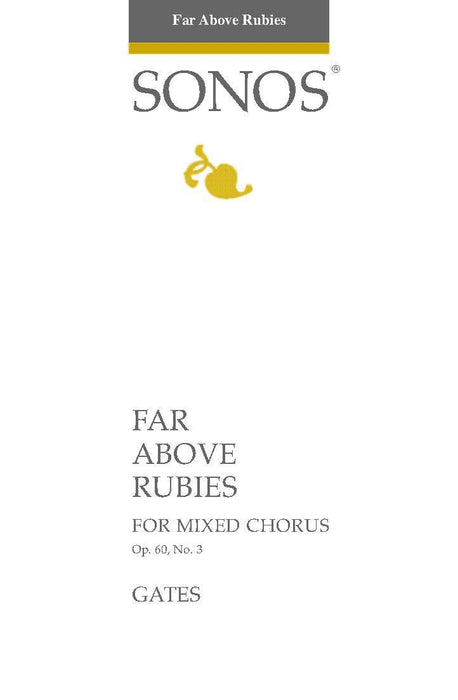 Far Above Rubies - SAB | Sheet Music | Jackman Music