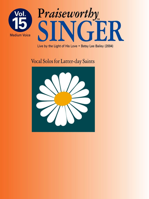 Praiseworthy Singer - Vol. 15 Acc. CD | Sheet Music | Jackman Music