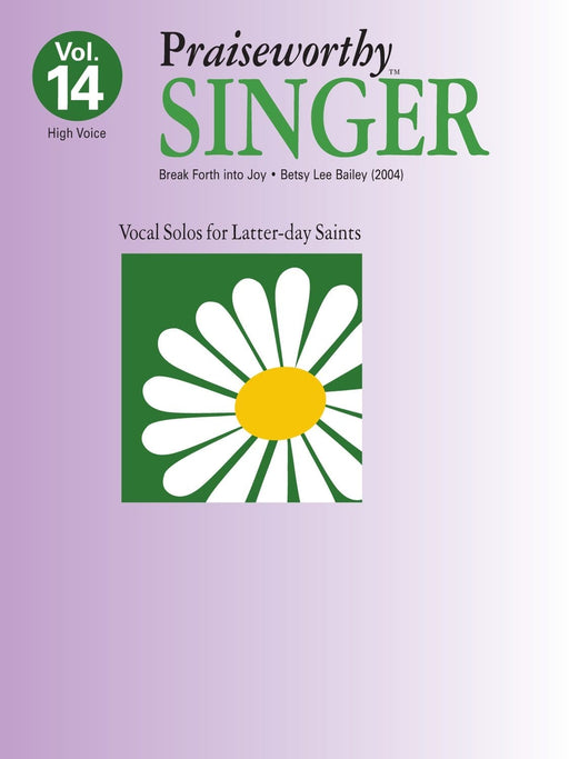 Praiseworthy Singer - Vol. 14 Acc. CD | Sheet Music | Jackman Music