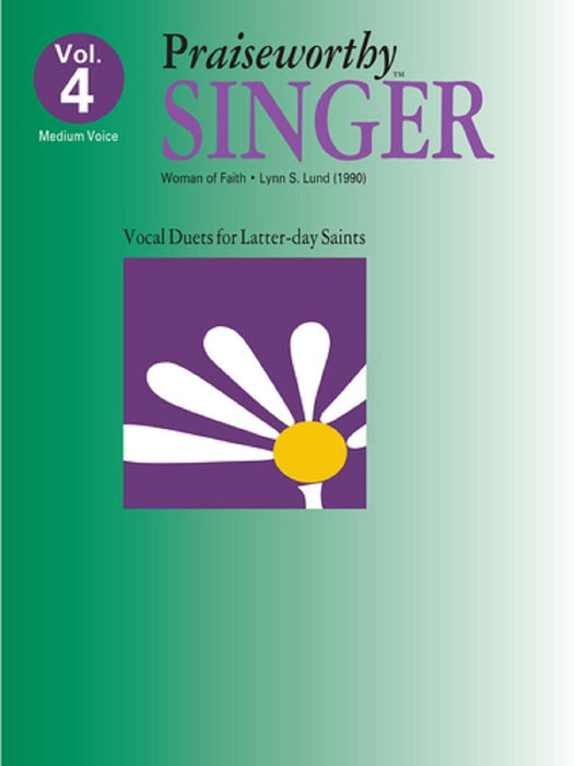 Praiseworthy Singer - Vol. 4 Acc. CD | Sheet Music | Jackman Music