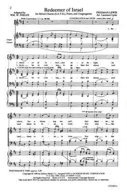 Redeemer of Israel - SATB & Congregation