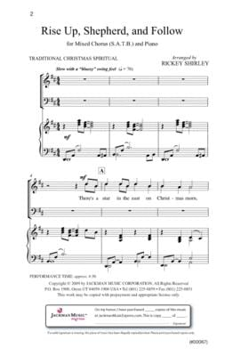 Rise Up Shepherd and Follow - SATB