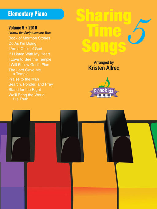 Sharing Time Songs Vol. 5 (2016) - Elementary Piano | Sheet Music | Jackman Music