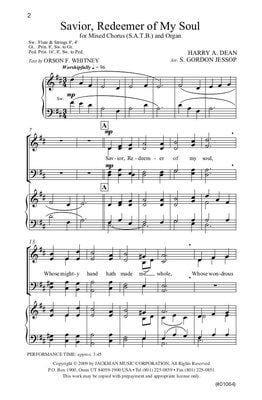 Savior Redeemer of My Soul - SATB