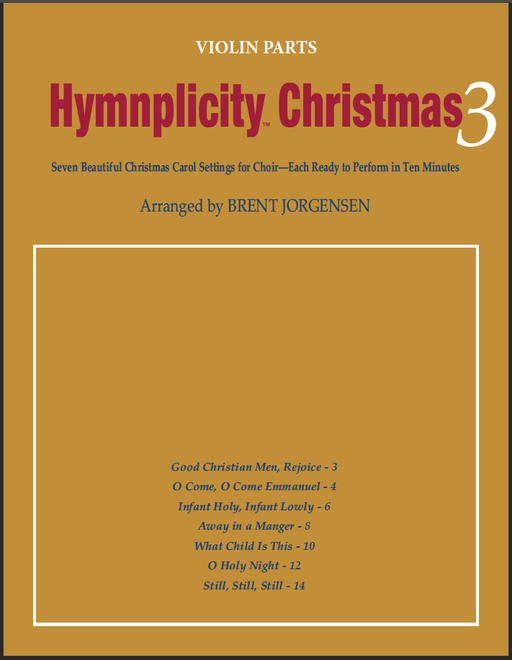 Hymnplicity Christmas - Book 3 Violin Parts | Sheet Music | Jackman Music