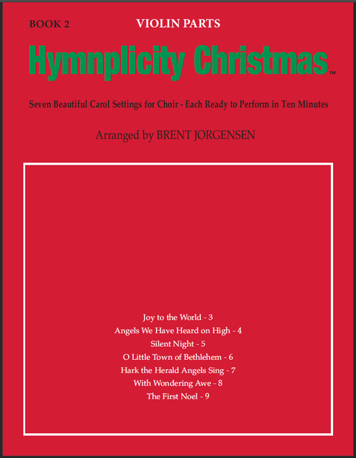 Hymnplicity Christmas - Book 2 Violin Parts | Sheet Music | Jackman Music