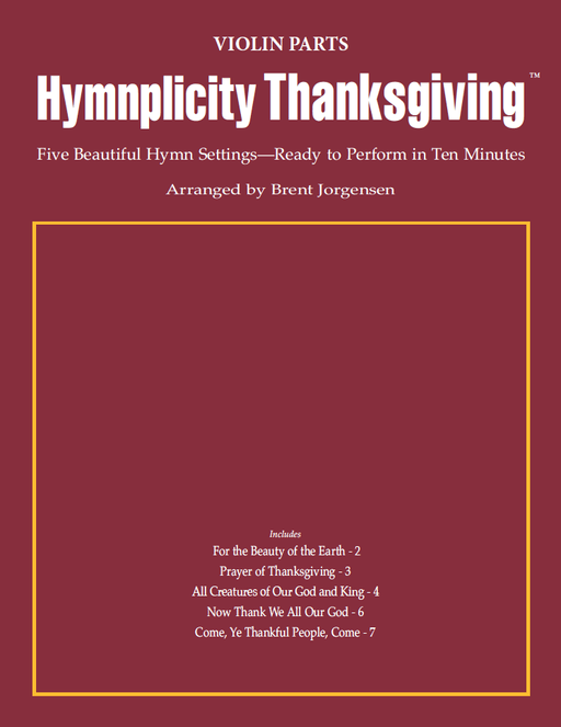 Hymnplicity Thanksgiving - Violin Parts