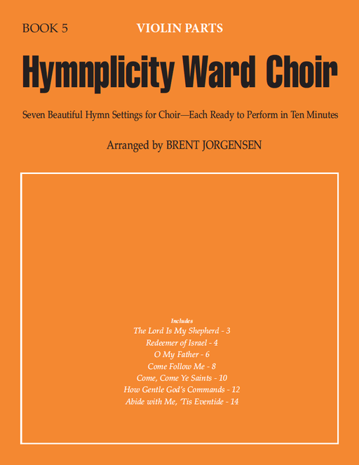 Hymnplicity Ward Choir - Book 5 Violin Parts