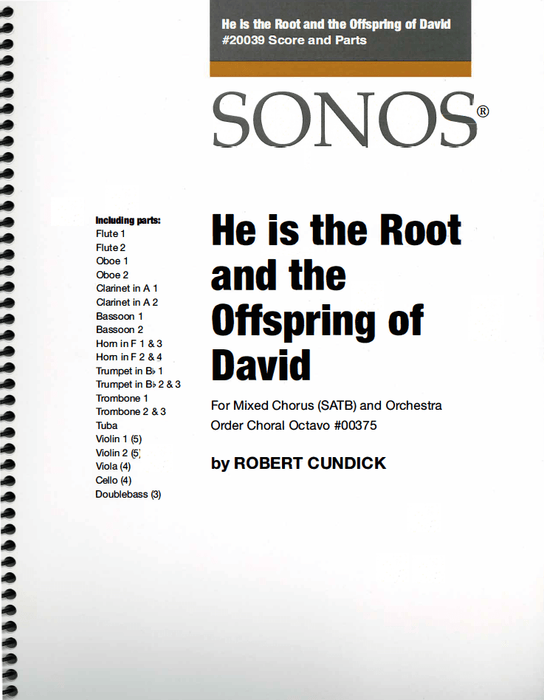 He is the Root and the Offspring of David - Orchestration