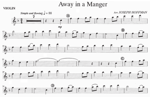 Away in a Manger - Violin Solo