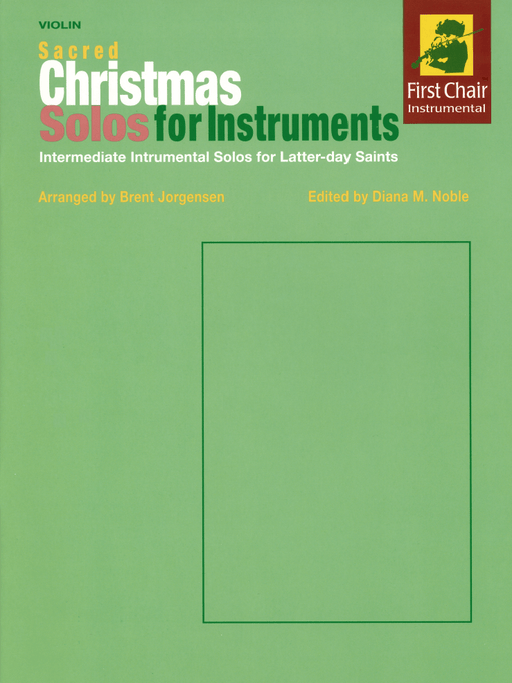 Sacred Christmas Solos For Instruments Violin | Sheet Music | Jackman Music