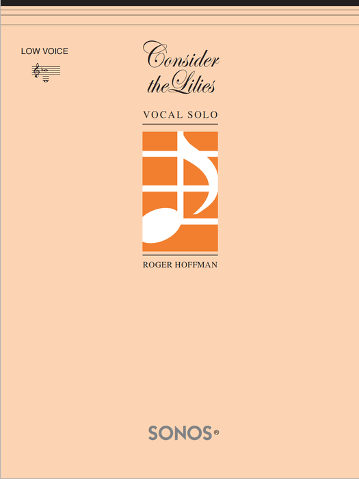 Consider the Lilies - Vocal Solo - Low | Sheet Music | Jackman Music