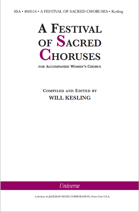 A Festival of Sacred Choruses - SSA (Digital Download)