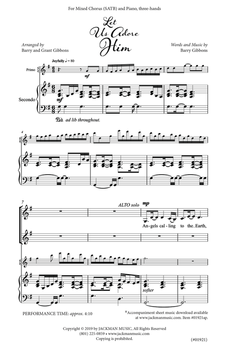 Let Us Adore Him - SATB | Sheet Music | Jackman Music