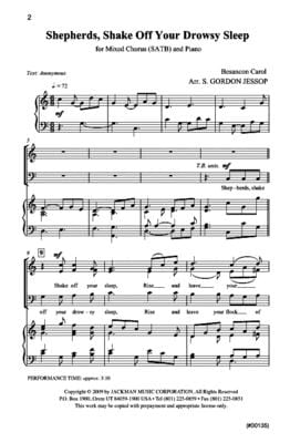Shepherds, Shake Off Your Drowsy Sleep - SATB