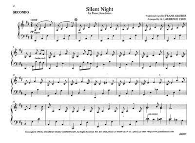 Silent Night - Piano four-hands