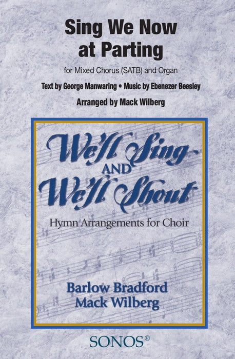 Sing We Now at Parting - SATB