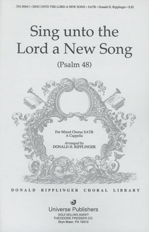 Sing unto the Lord a New Song - SATB - a cappella