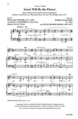 Sweet Will Be the Flower - SATB