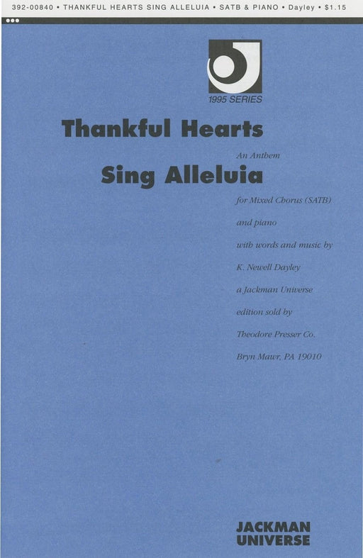 Thankful Hearts Sing Alleluia - SATB | Sheet Music | Jackman Music