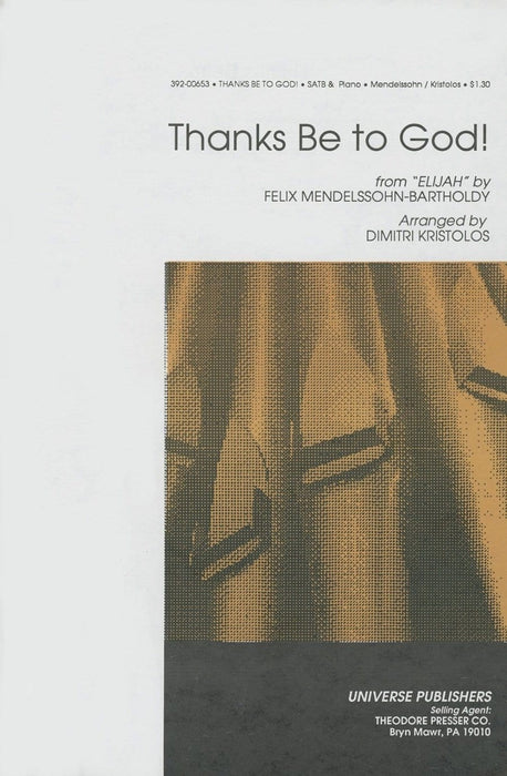 Thanks Be to God - SATB