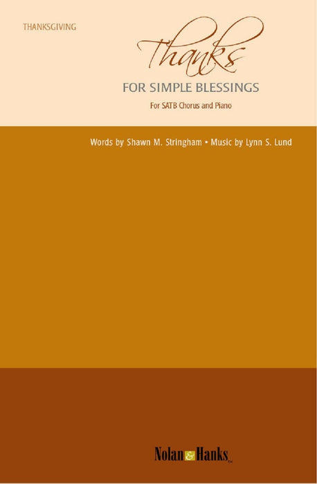 Thanks for Simple Blessings - SATB