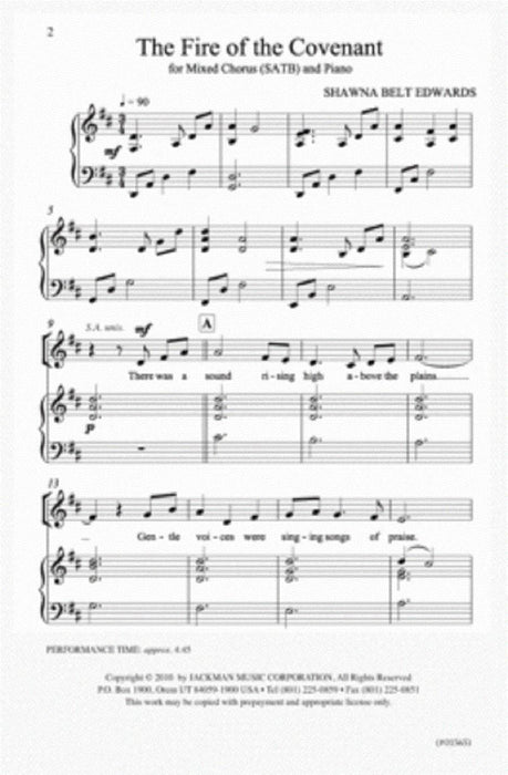 The Fire of the Covenant - SATB