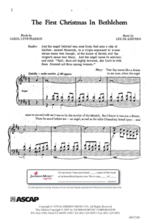 The First Christmas In Zarahemla The First Christmas In Bethlehem Cantata | Sheet Music | Jackman Music