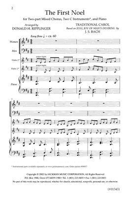 The First Noel Two Part Ripplinger | Sheet Music | Jackman Music