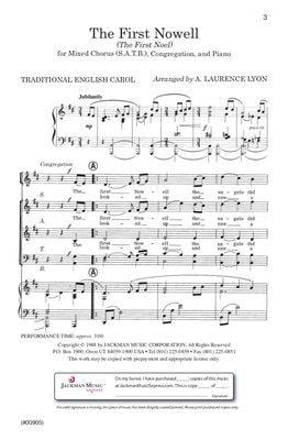 The First Nowell Satb W Congregation Lyon | Sheet Music | Jackman Music