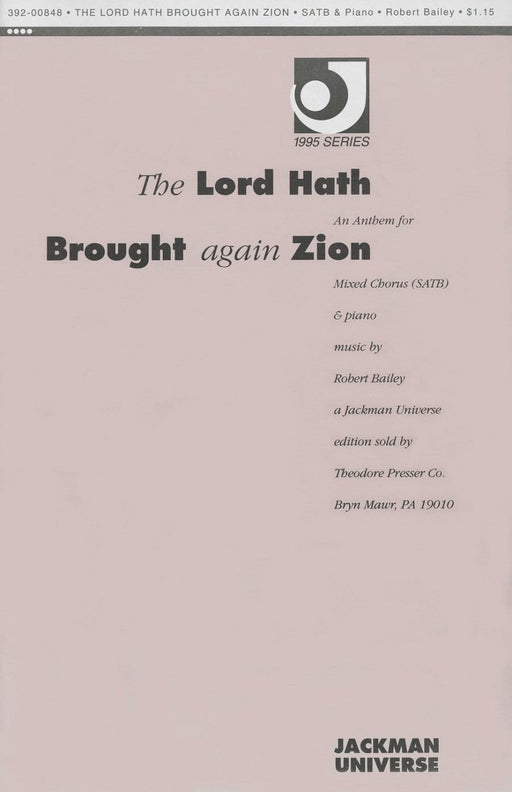 The Lord Hath Brought Again Zion - SSAATTBB