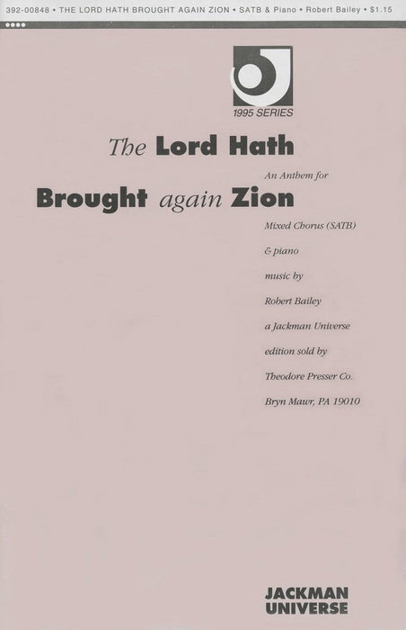The Lord Hath Brought Again Zion - SSAATTBB | Sheet Music | Jackman Music