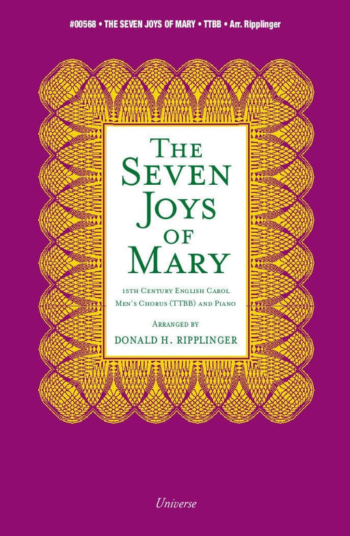 The Seven Joys of Mary - TTBB | Sheet Music | Jackman Music