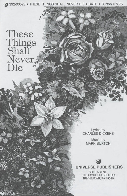 These Things Shall Never Die - SATB | Sheet Music | Jackman Music