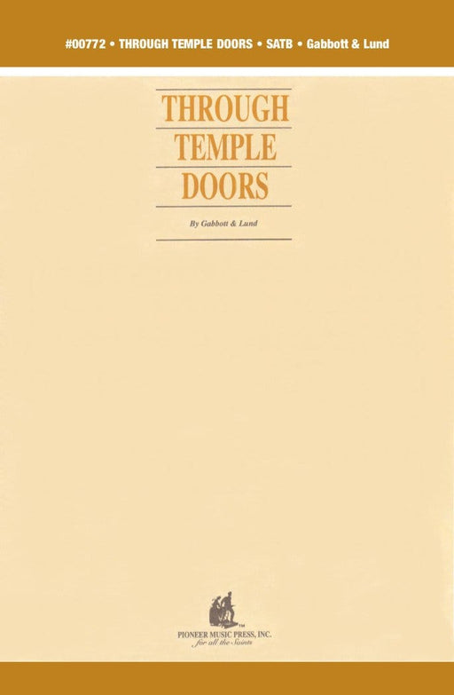 Through Temple Doors - SATB (Digital Download) | Sheet Music | Jackman Music