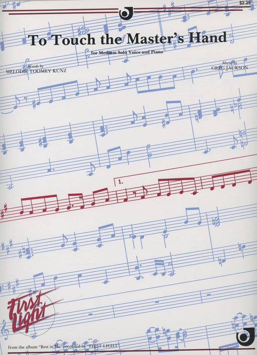 To Touch the Master's Hand | Sheet Music | Jackman Music