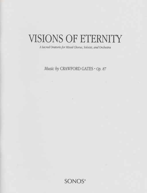 Visions of Eternity - Oratorio (Choruses) | Sheet Music | Jackman Music