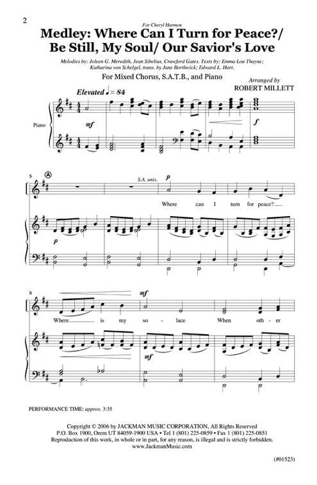 Where Can I Turn for Peace? - Medley - SATB