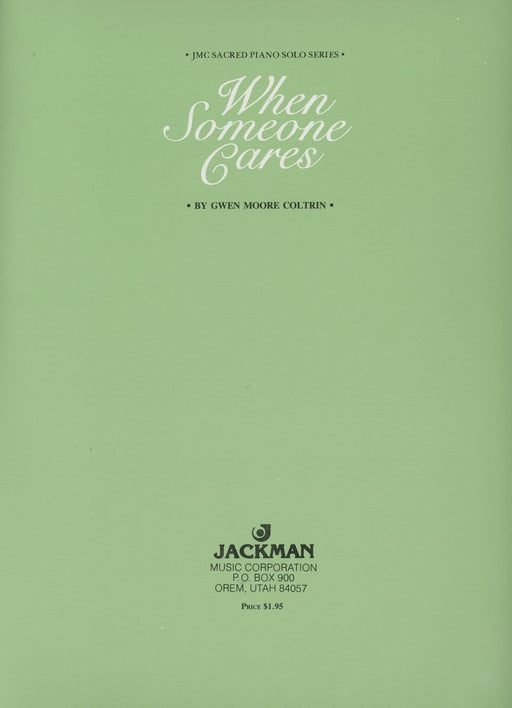 When Someone Cares - Piano Solo | Sheet Music | Jackman Music