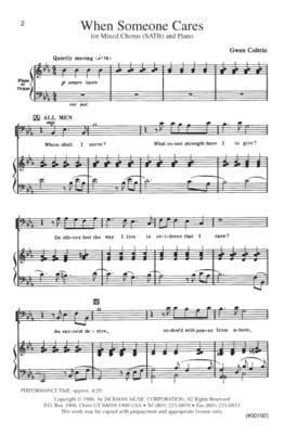 When Someone Cares Satb | Sheet Music | Jackman Music