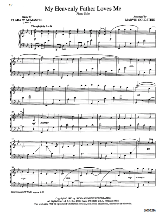 A Gift Of Love Piano Solos | Sheet Music | Jackman Music