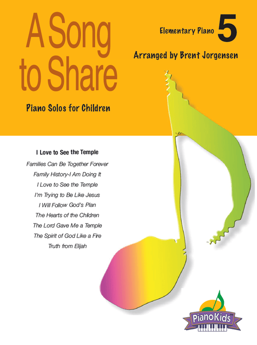 A Song to Share - Vol 5 - Elementary Piano | Sheet Music | Jackman Music