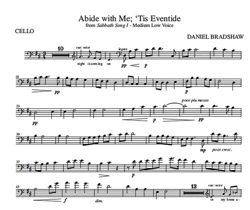 Abide with Me; 'Tis Eventide - Cello Obbligato