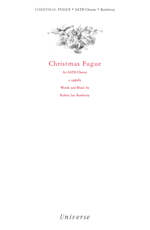 Christmas Fugue (Behold the Lamb of God) - SATB | Sheet Music | Jackman Music