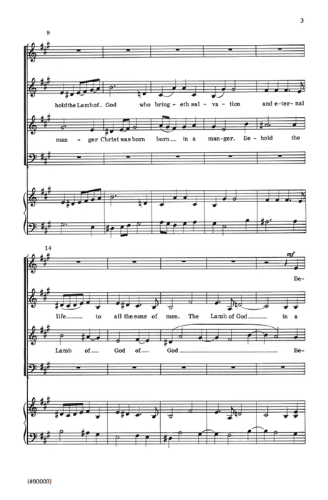 Christmas Fugue (Behold the Lamb of God) - SATB