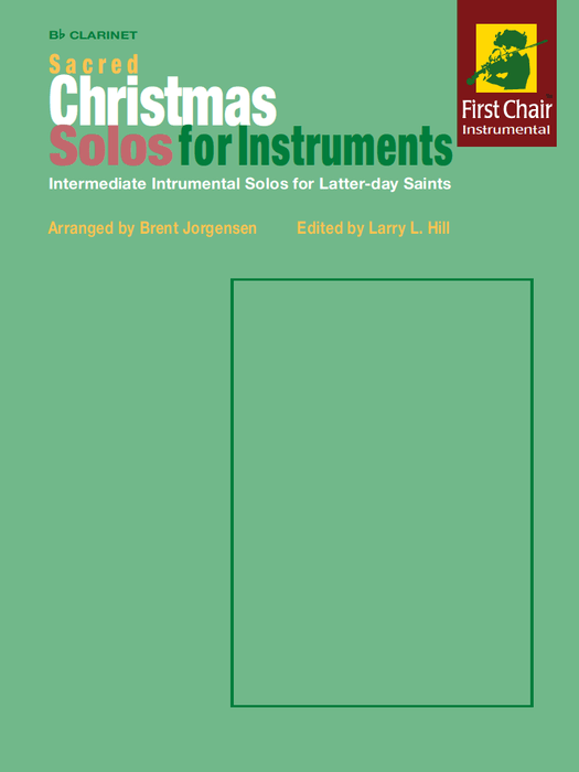 Sacred Christmas Solos for Instruments - B flat Clarinet corrected pages