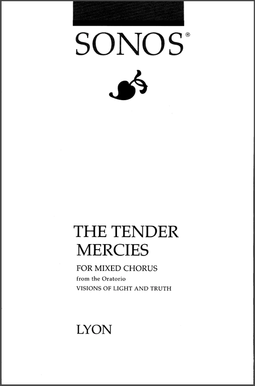 The Tender Mercies - SATB
