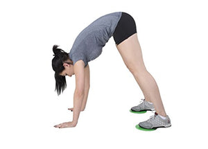 Core Sliders. Dual Sided Use on Carpet or Hardwood Floors. Abdominal Exercise Equipment