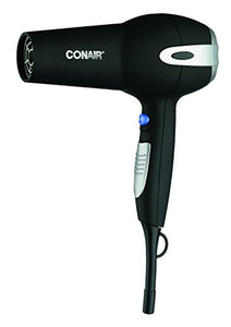 Conair 1875 Watt Ionic Ceramic Hair Dryer; Black