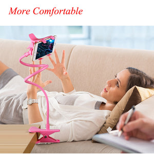 360 Rotating Flexible phone holder Lazy Bracket Desk Table Holder Double Clip Phone Mount Stand for Xiaomi Redmi 3 for iPhone